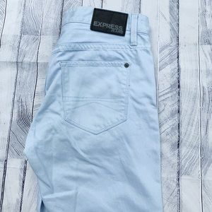 Express light blue skinny jeans pants